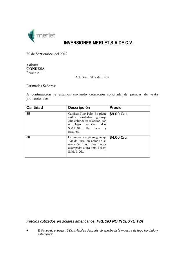 carta solicitud de cotizacion a programadores