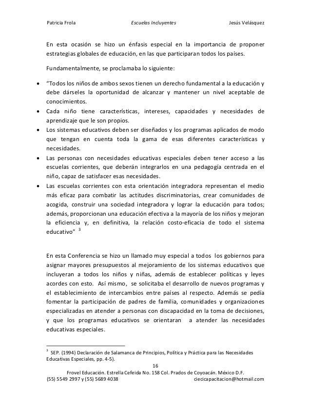 condiciones de colegios particulares que tienen proyecto de integración