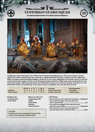 40k adeptus custodes codex pdf