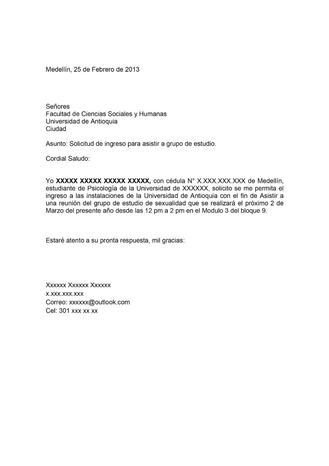 carta solicitud de ingreso magister