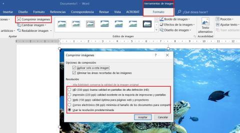 comprimir de word a pdf