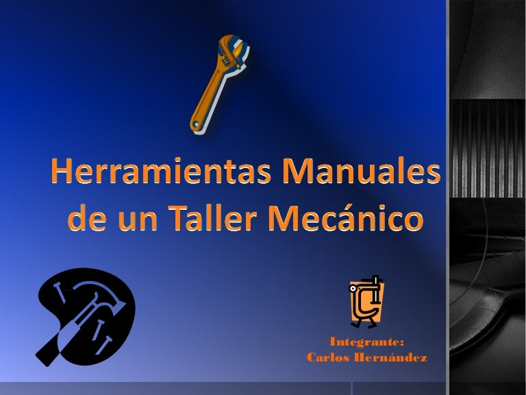 clasificacion de las herramientas de un taller mecanico pdf