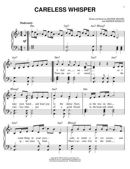 careless whisper sheet music pdf