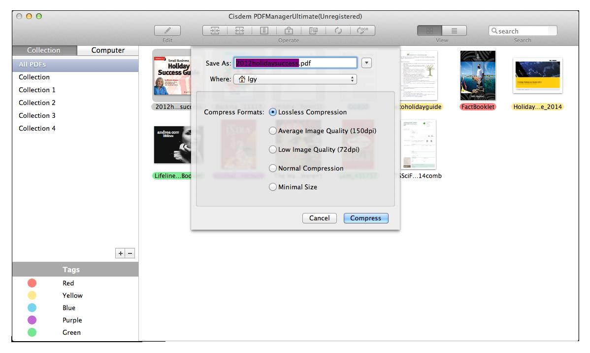 convert to compressed pdf in mac