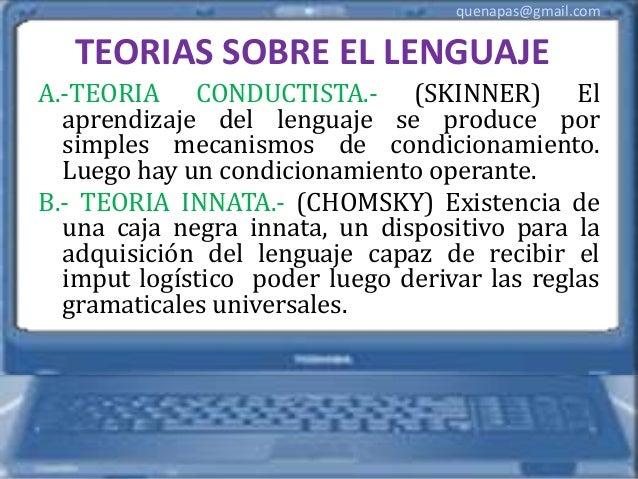 chomsky teoria del lenguaje escrito pdf