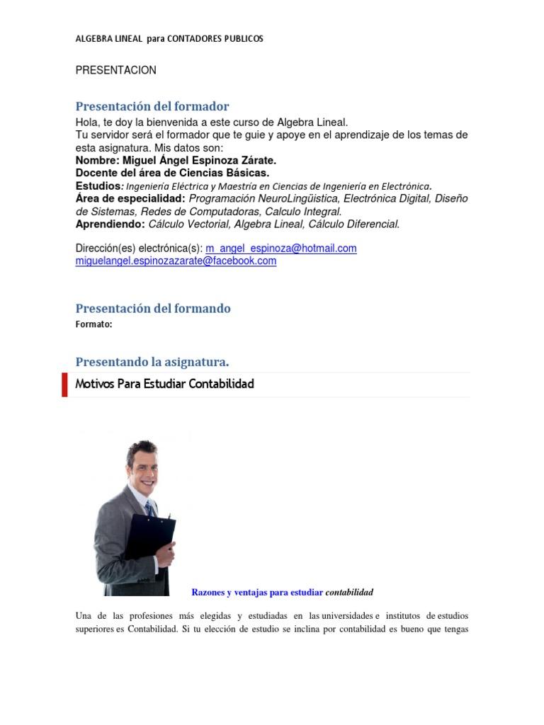 algebra lineal para economia y administracion checa pdf