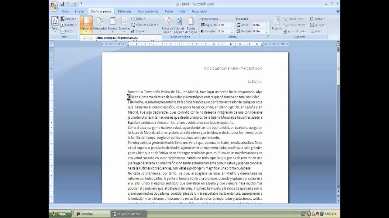 como cambiar los margenes en pdf