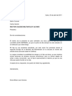 carta formal de solicitud universitaria
