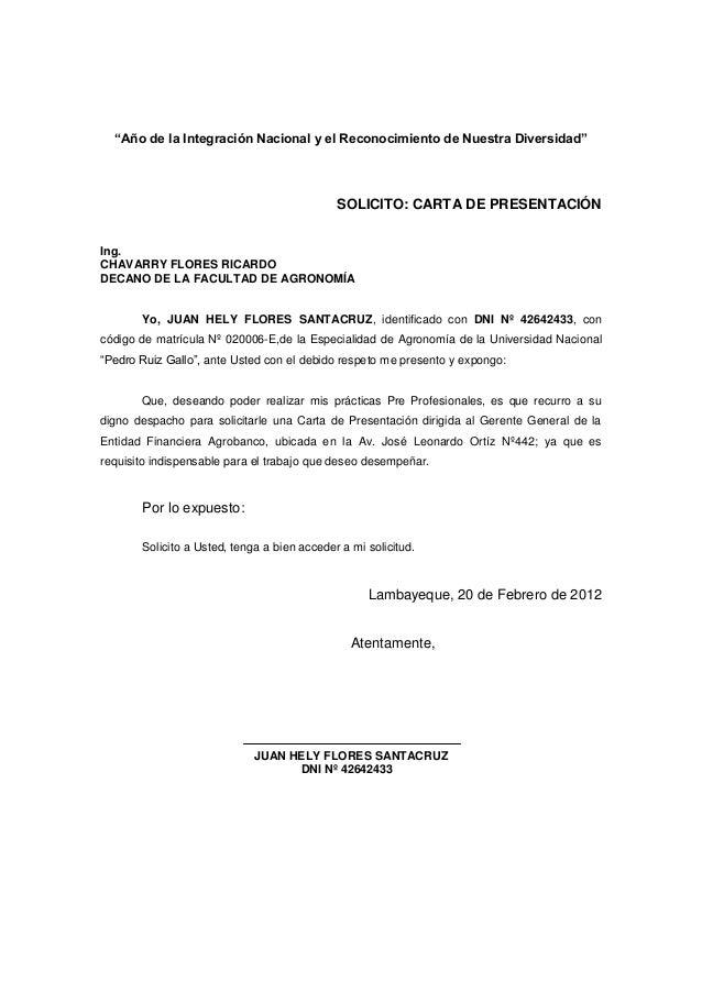 carta de pedido solicitud practica profesional