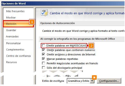 cambiar diccionario por defecto de word