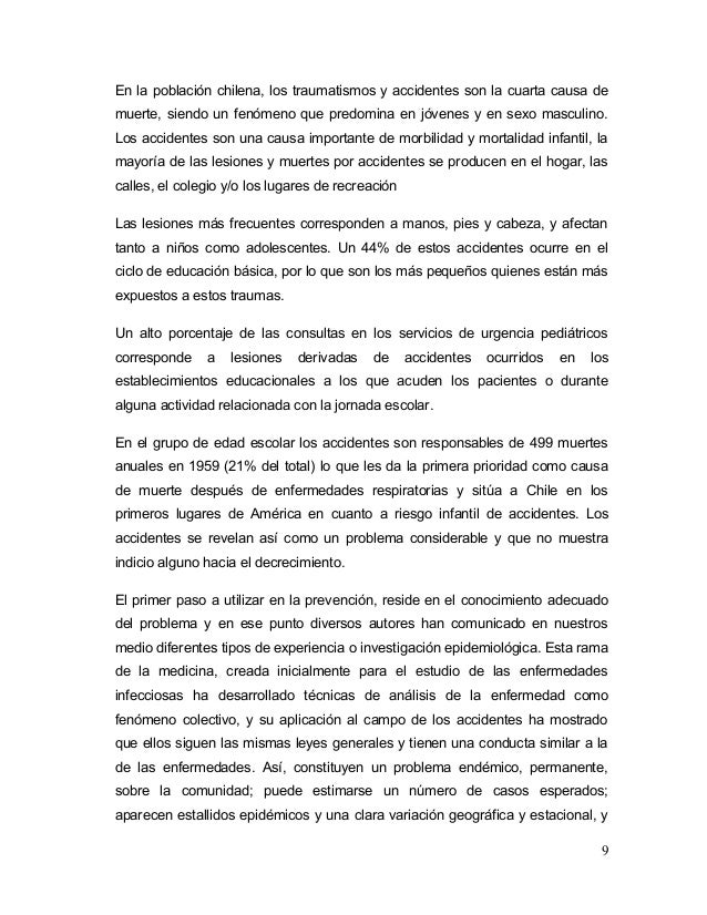 causas de muerte en chile pdf