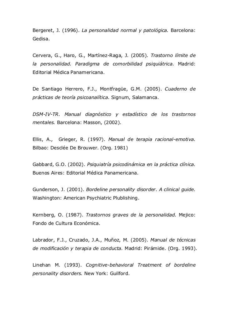 bergeret la personalidad normal y patologica pdf