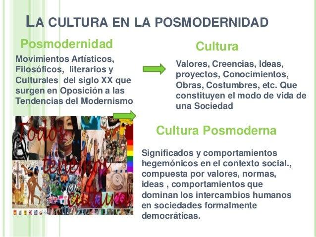 condiciones actuales de la cultura en nuestra sociedad