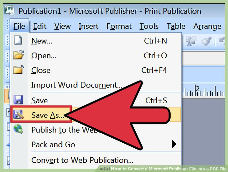 como cambiar un archivo de publisher a pdf