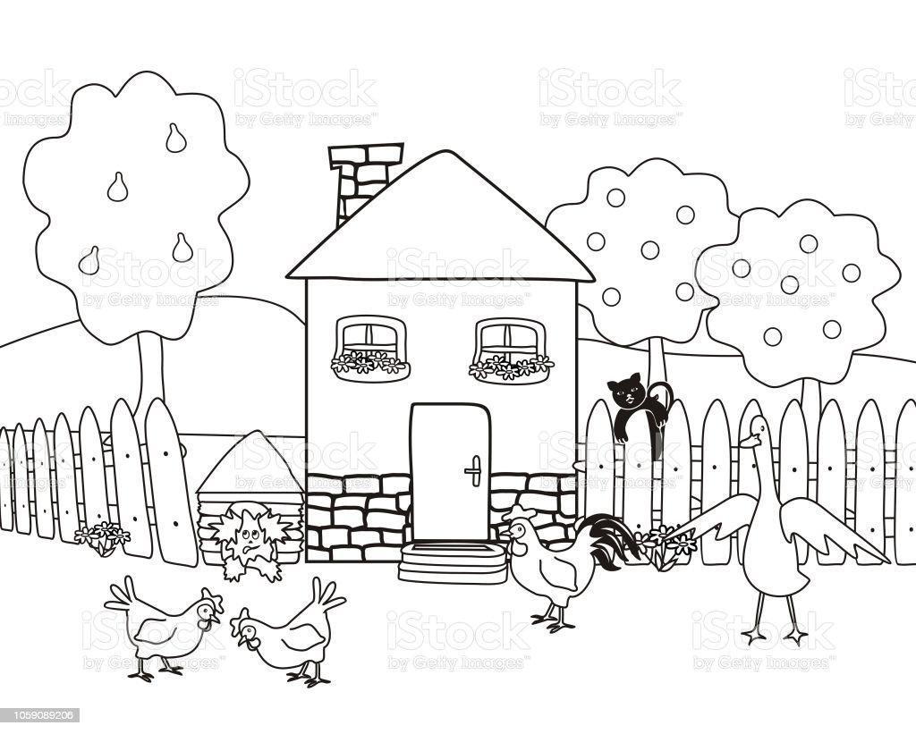 animales de la granja para colorear pdf