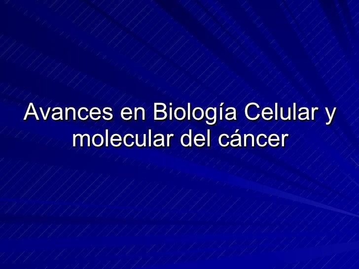 biologia molecular y genomica del cancer pdf