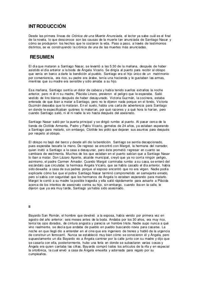 cronicas de una muerte anunciada completo pdf descargar