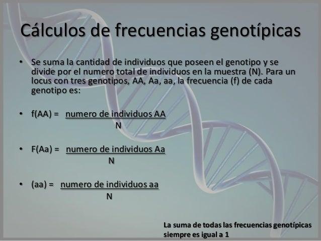 calculo de frecuencias alelicas y genotipicas pdf