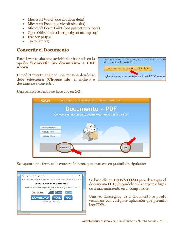 cambiar formato deword a pdf