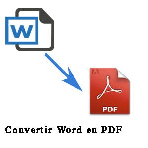 cambiar formsato de word a pdf