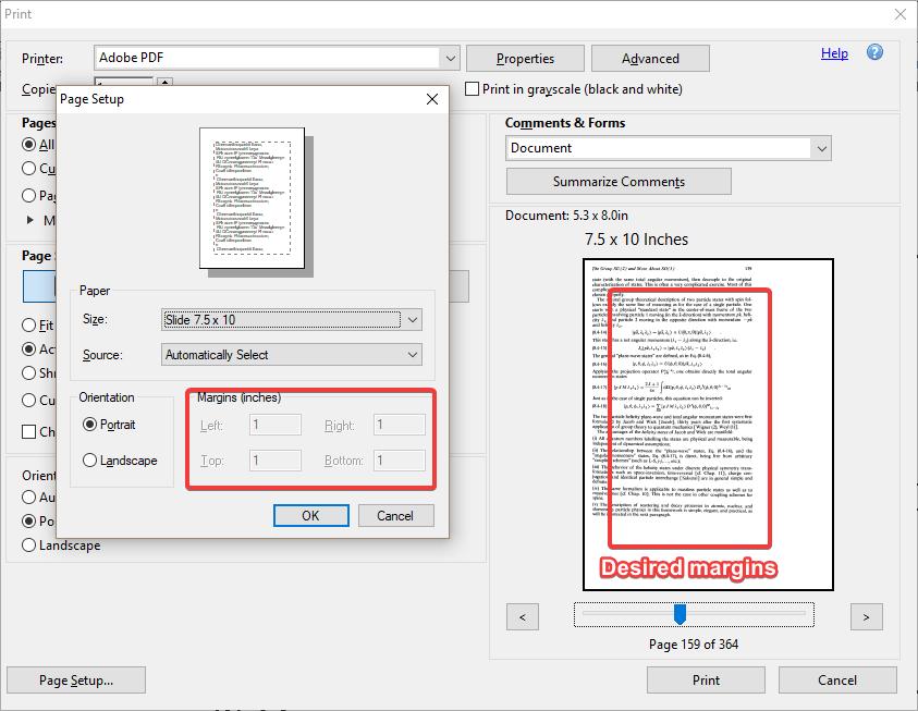cambiar margenes de impresion pdf