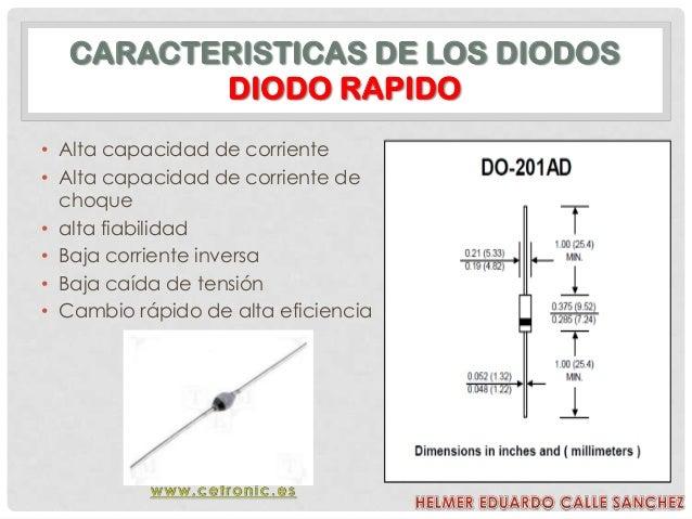 caracteristicas de los diodos pdf