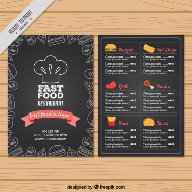 carta menu en ingles y español pdf