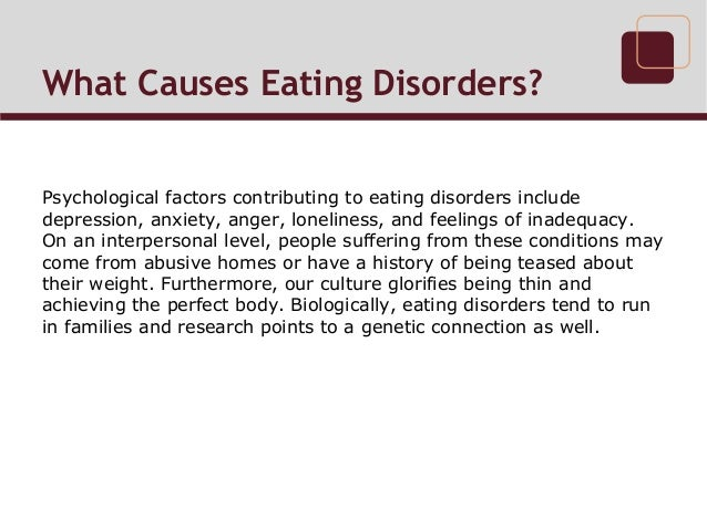 causes of eating disorders pdf