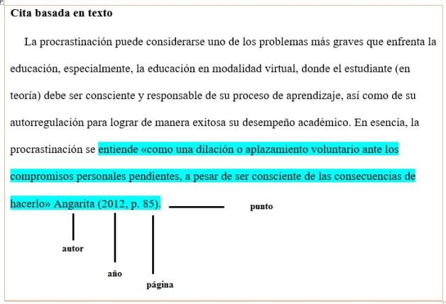 como citar un texto en apa pdf