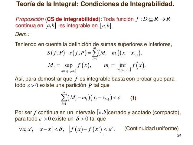 condiciones de existencia integrables riemman