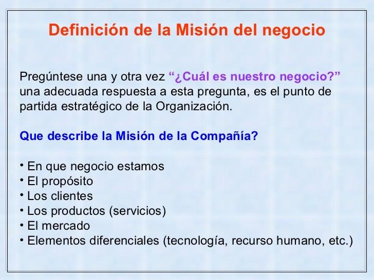 definicion de mision y vision pdf
