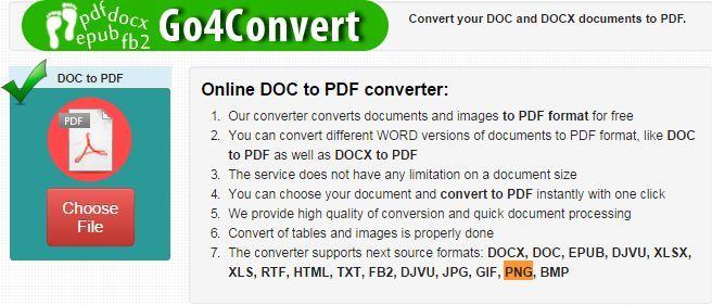convert pdf to word any size